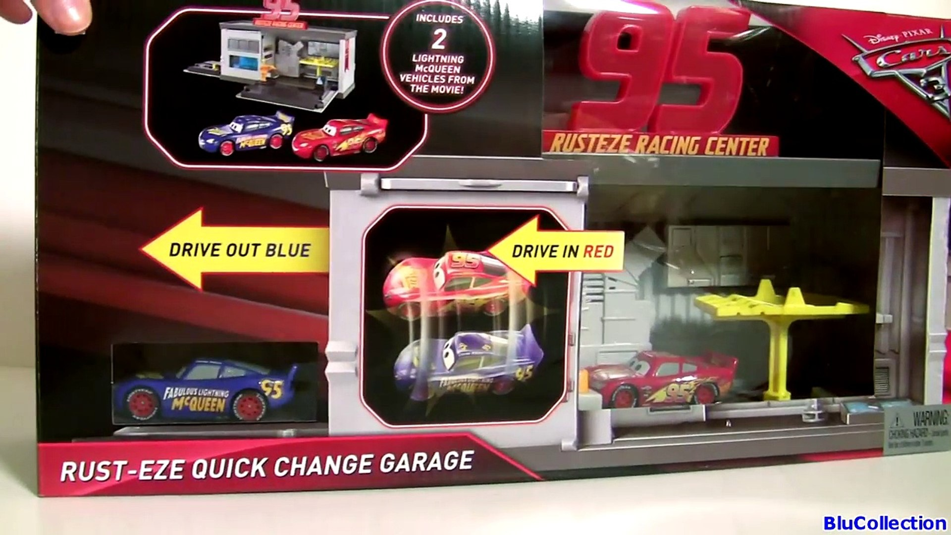 Cars 3 Rust Eze Quick Change Garage Fabulous Lightning Mcqueen