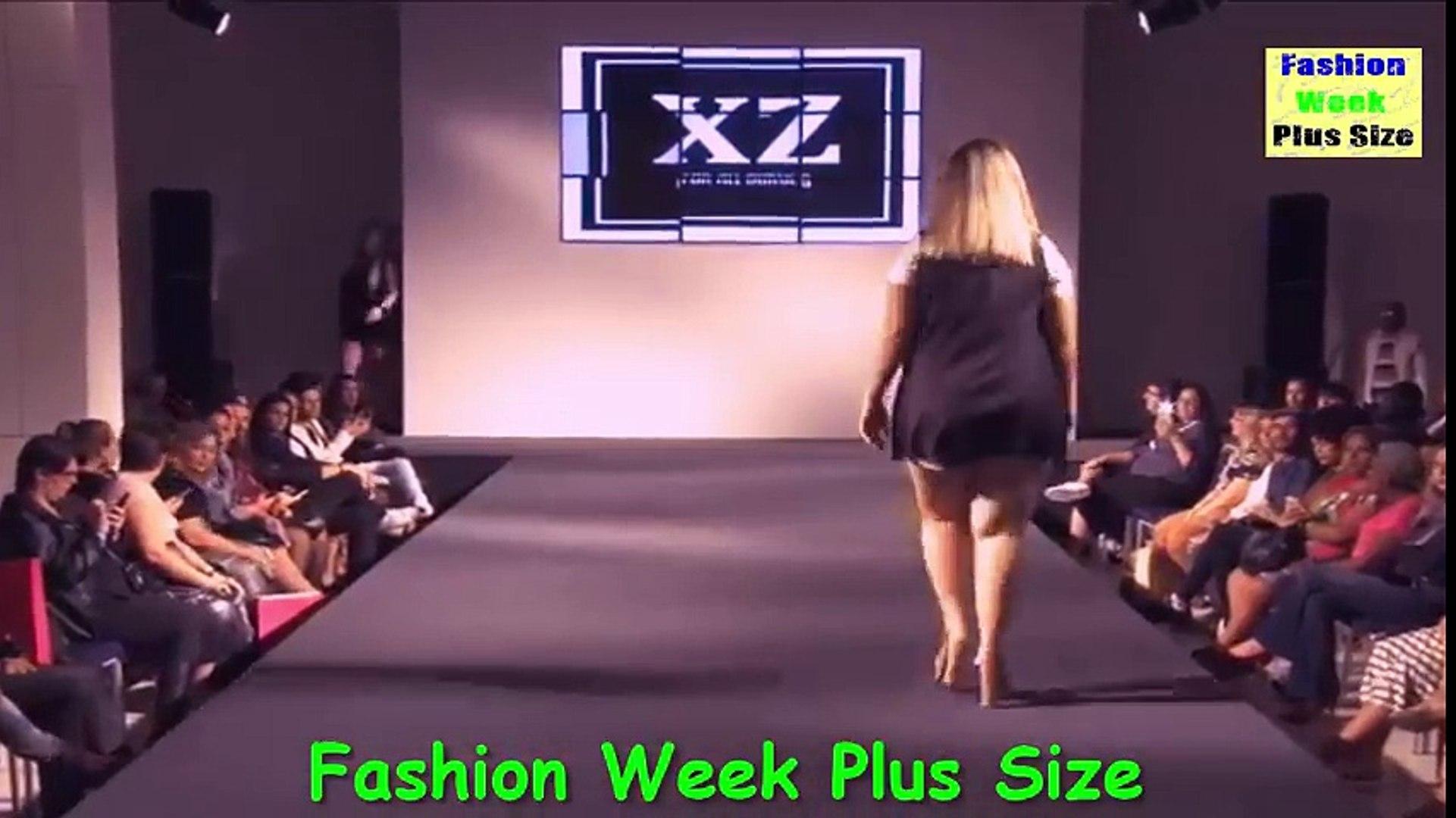 Fashion week Plus Size 2017_ Large women Plus Size clothing - Fashion summer - Fashion Show.