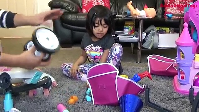 Pink Quinny Stroller Surprise Unboxing and Playtime | Girls Dolls Pram Pushchair Toy Review