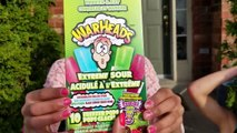 EXTREME SOUR WARHEADS CANDY CHALLENGE ! Family Fun Video - HZHtube Kids Fun