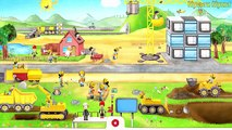 Truck Videos for Children - Kids Learn Heavy Machines Dump Trucks,Digger,Crane,Bulldozer | Car Truck