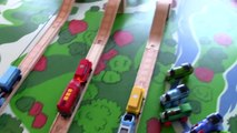 Thomas and Friends Thomas the Tank Engine vs Brio Trains Motorized Wooden Railway Trains
