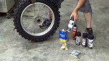 How to paint dirt bike wheels - KLX 351 Katsumi [MV]{