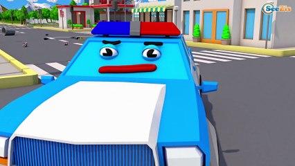 Carro de Polícia para Crianças - DE CARRO DA PRISÃO!! - Polícia e Ladrão - Desenhos Animados