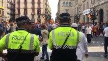 Concentració unionista a la plaça de Sant Jaume de Barcelona