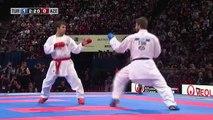 Final Male Kumite +84Kg. Enes Erkan vs Shahin Atamov. WKF World Karate Championships new