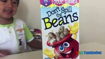 Family Fun Game for Kids Dont Spill the Beans Egg Surprise Toys Frozen Elsa Ryan ToysReview