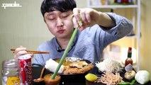 통 치즈돈가스 먹방은 처음이지? 리얼사운드 옥탑방미식가 #37화 Social Eating Show Mukbang^ㅡ^!