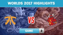 Highlights: FNC vs HKA Game 2 - Round 2 Play-In Stage Worlds 2017