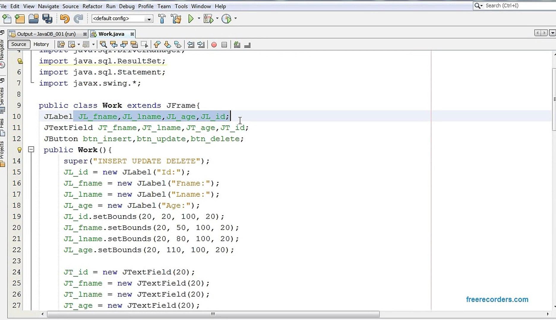 JAVA & MySQL - How To Insert Update Delete Data In MySQL Database Using Java [ with source code