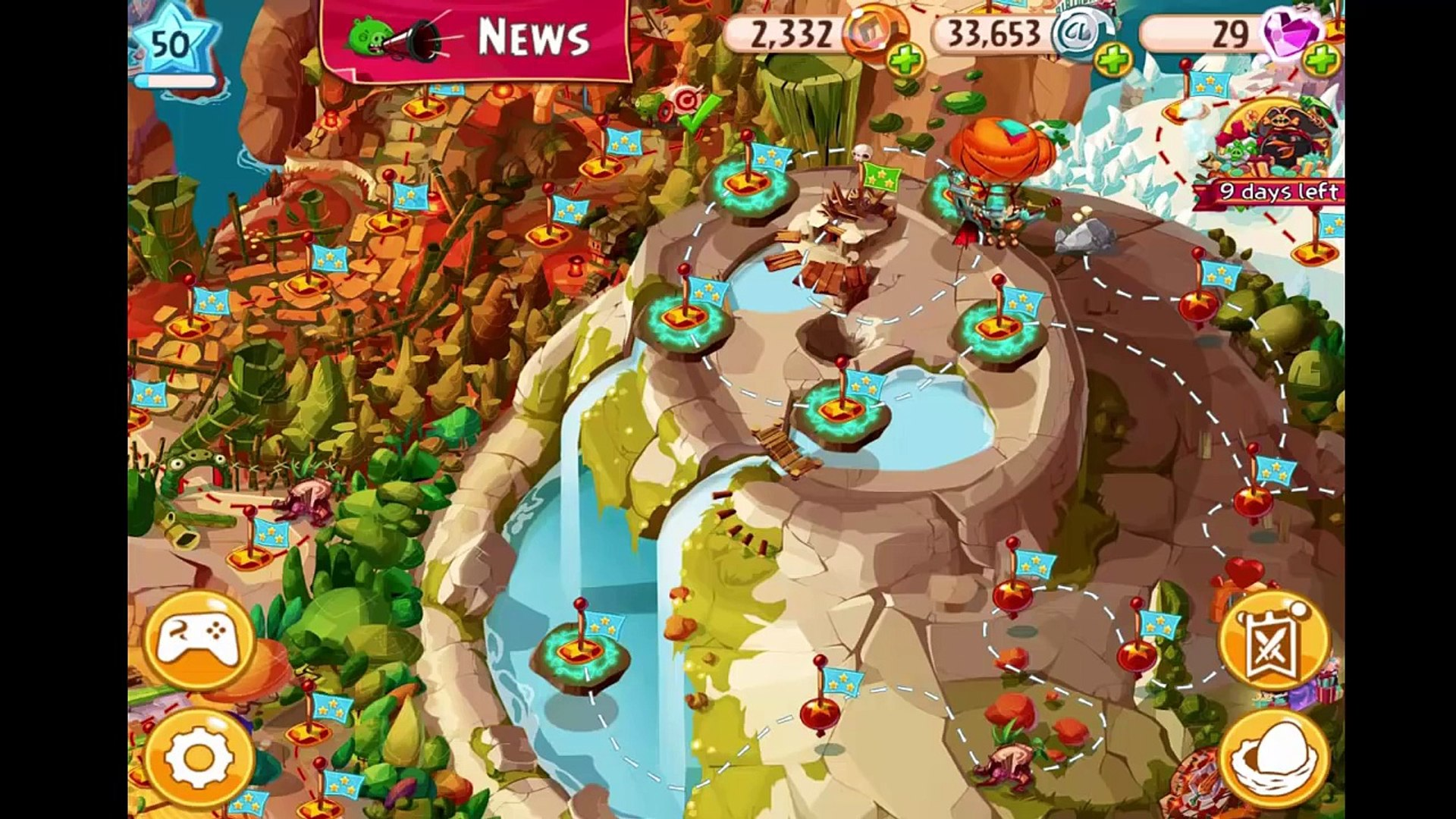 Angry Birds Epic: Red, Chuck & Blue Birds (New Helms!)Gameplay On Magic Shield 1-5 + Wizpigs Cas