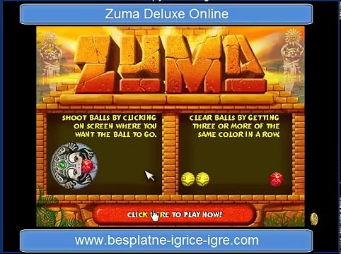 Zuma Deluxe Game Online Besplatna Igrica Zuma Deluxe Video Dailymotion