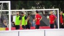 [축구]2017.07.29 바르셀로나 팀훈련중 네이마르 폭행 Neymar fight vs Nelson Semedo in training session