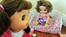 Baby Alive PEES The Bed Part 2! - Baby Alive Sleepover - Daisy Wets Bed - baby alive videos