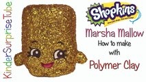 SHOPKINS Limited Edition MARSHA MALLOW How To Make With Polymer Clay Shopkins Custom DIY