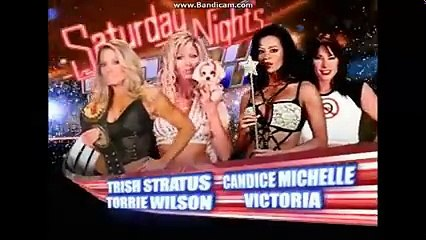 WWE RAW  Trish Stratus vs Victoria  w Candice Michelle Womenschampionship
