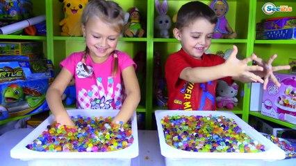 Orbeez Challenge - Shopkins Toy Opening - Surprise Toys For Kids Видео для детей Tiki Taki
