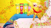 PEPPA PIG Candy Games   Gumball Challenge with Peppa Muddy Puddles Bath Kids Video
