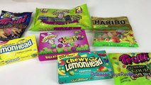 SOUR Candy Challenge Sour Skittles Sour Patch Kids Warheads Xtreme Challenge PRinces Toysreview EVAN
