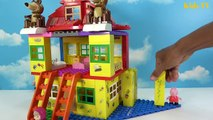 Peppa Pig Blocks Mega House LEGO Creations Sets With Masha And The Bear Legos Toys For Kids #8