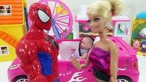 Baby Doll Kongsuni Syringe Doctor & SpiderMan Ambulance Hospital toys 스파이더맨 의사 콩순이와 구급차 병원놀이 뽀로로 장난감
