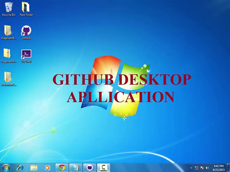 How to use GitHub Desktop Application – Видео Dailymotion