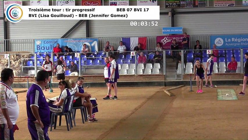 Troisième tour, tir progressif, Club Elite Féminin J1, Bourg en Bresse contre Bièvre Isère, octobre 2017