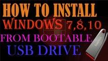 How to Install Windows 10 from USB Flash Drive l Windows 7,8,10 l Urdu_Hindi Tutorial 2017