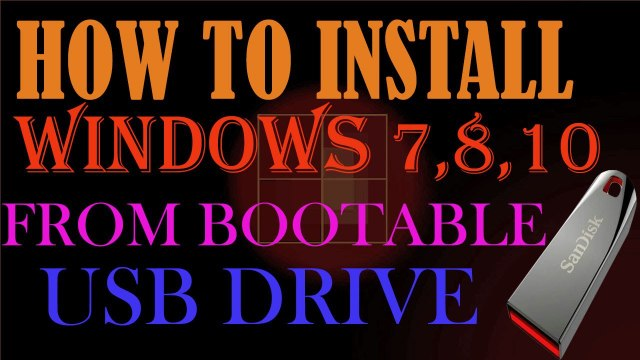 How to Install Windows 10 from USB Flash Drive l Windows 7,8,10 l Urdu_Hindi Tutorial 2017