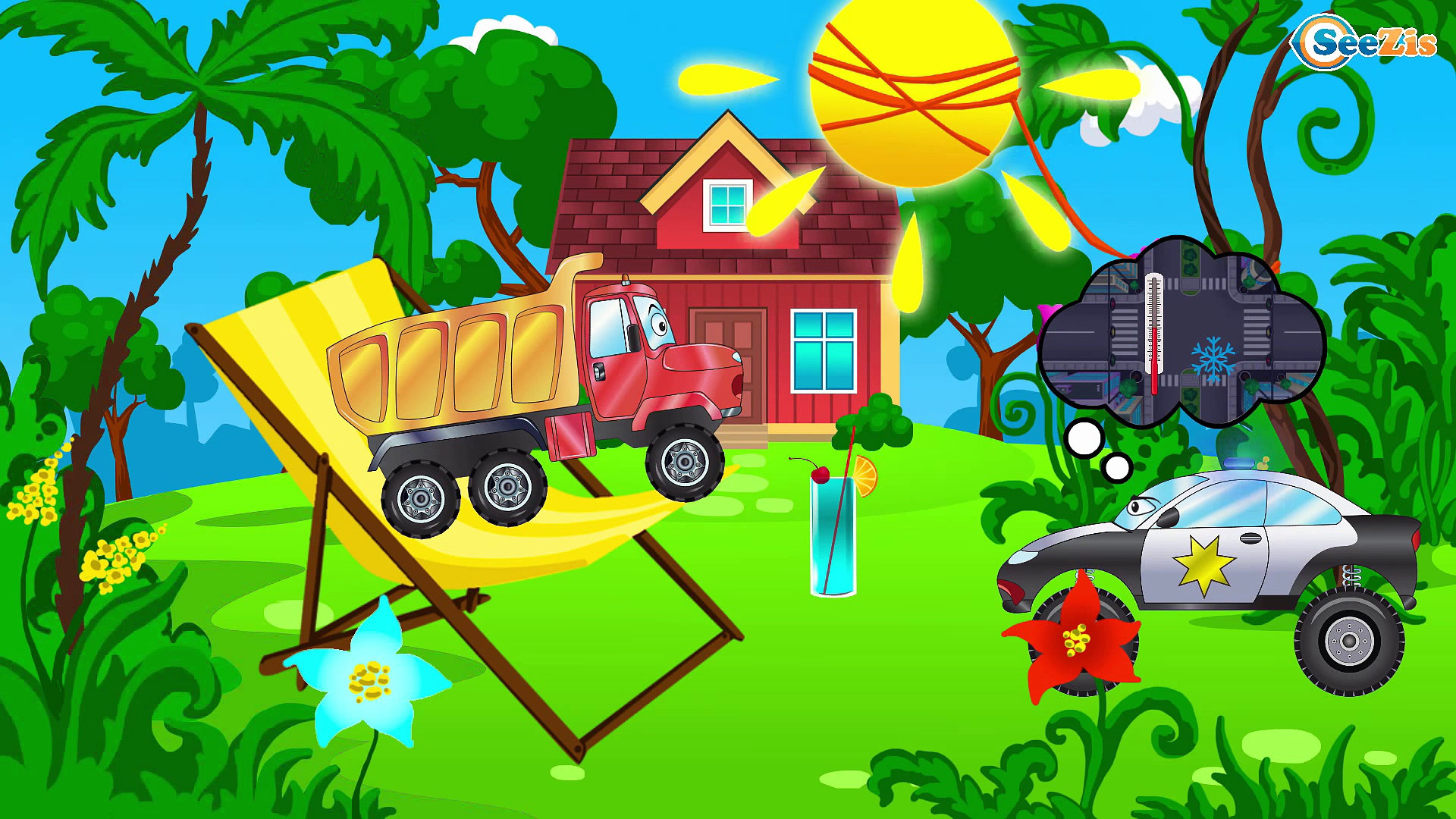 Construction Trucks: The Big Truck & Dump Truck & Crane – Cars & Trucks Cartoon for kids