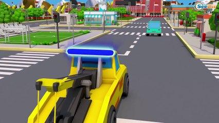 Super Red Truck CRASH on the Road in Trucks City   Trucks Cartoon for kids   Cars & Trucks Stories