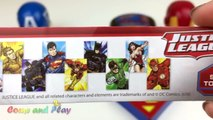 Fun Learning Colors with Play Doh Balls and Justice League Molds DC Comics Superhero Surprise Toys