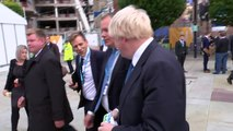 Boris Johnson arrives at Conservative Party conference