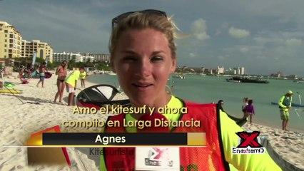 En Extremo entrevista a la kitesurfer Agnes Otten en el Aruba Hi Winds 2017