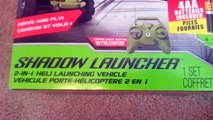 Air Hogs Shadow Launcher 2 in 1 Heli Launching Vehicle Unboxing, Demonstration and Review