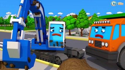 Trator e Caminhão em Apuros - Desenhos Animados Para Pequenos - Carros 3D