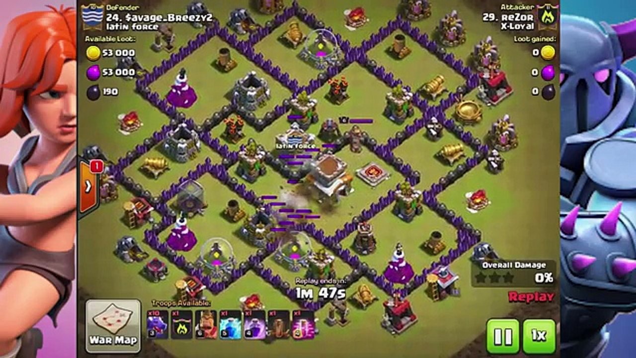 How To Dragon Attack TH8 Guide in 2017 Easy 3 Star Dragloon