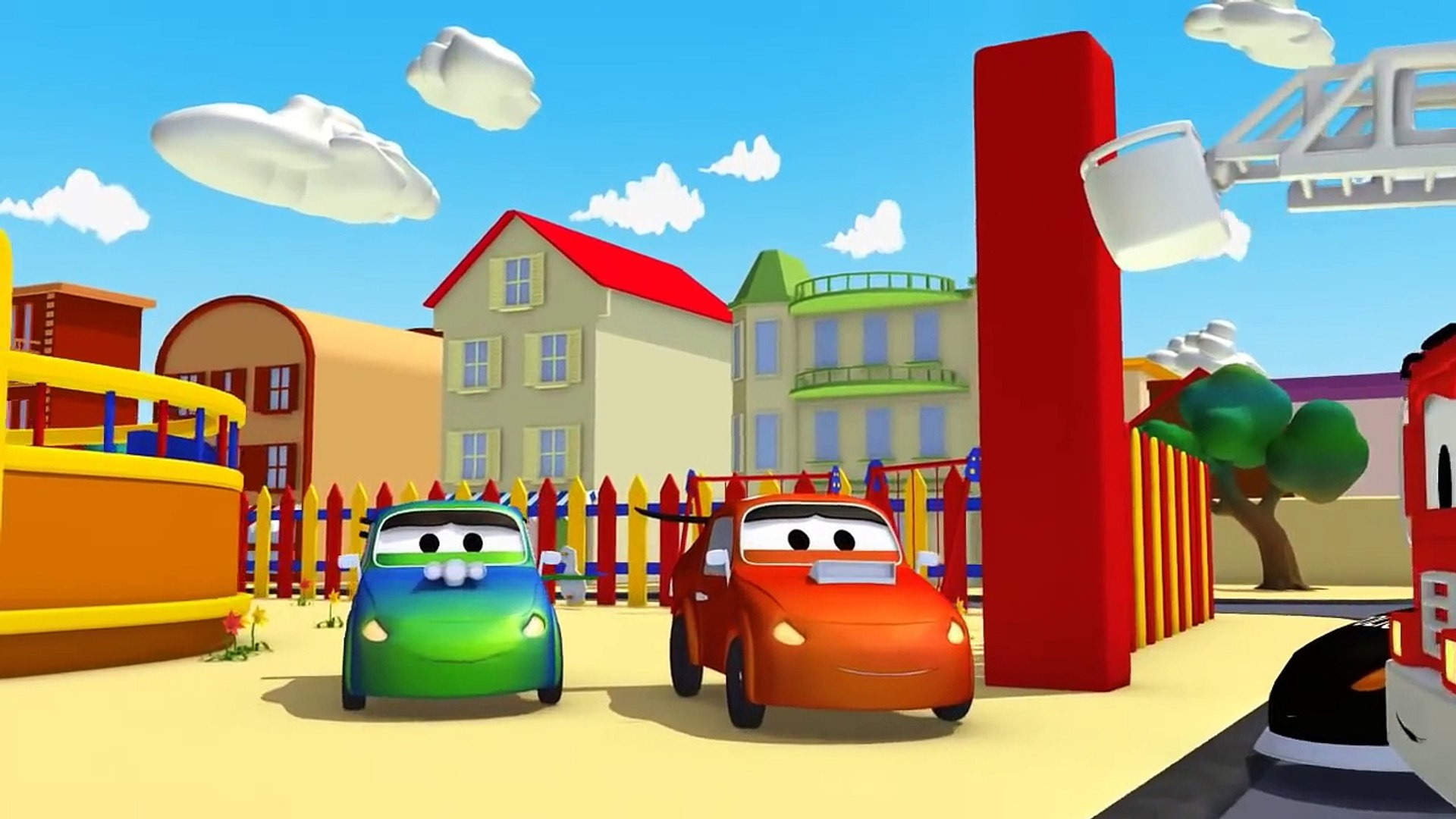 2 bad Racing Cars and Car Patrol fire truck and police car | Cars & Trucks cartoon for children