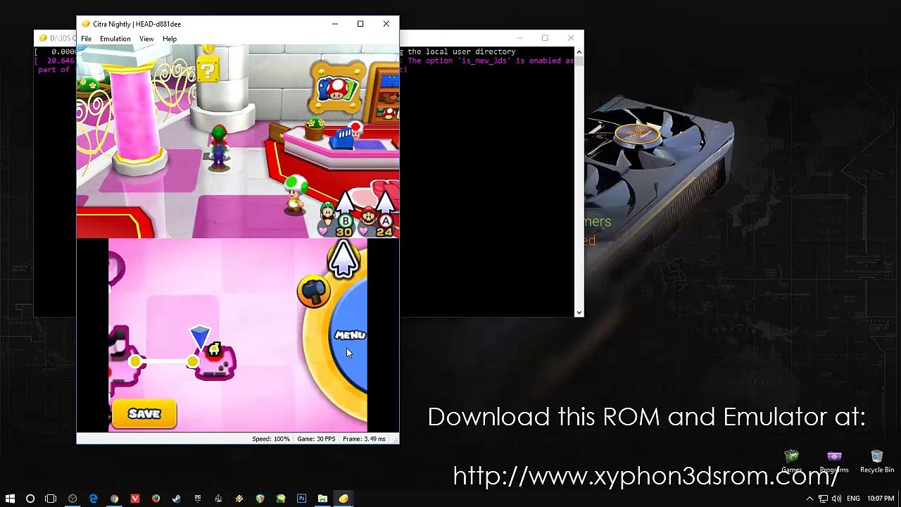 Mario Luigi Paper Jam 3ds Rom Emulator Citra Download Video
