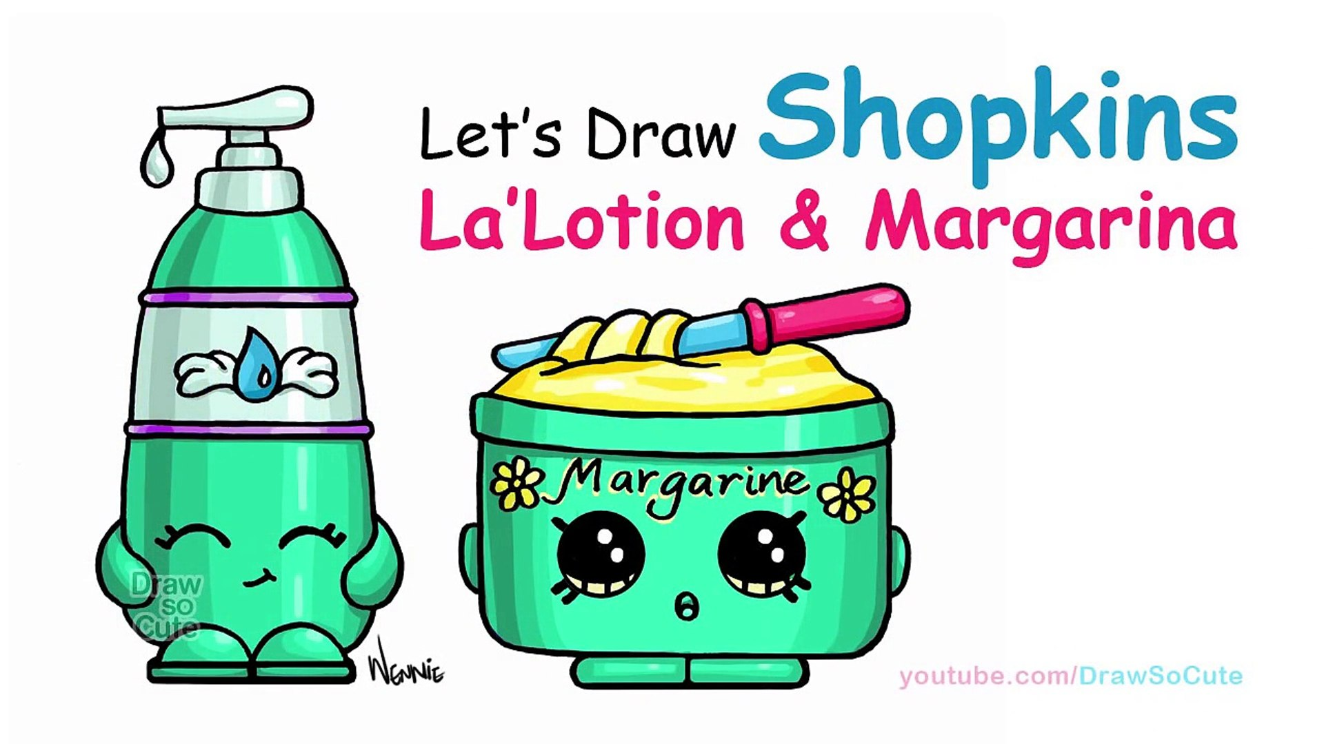 How To Draw Shopkins Lalotion And Margarina Cute And Easy Step By Step Video Dailymotion