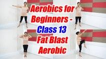 Aerobics for beginners - Class 13 | Fat Burn Aerobic Dance Workout | Boldsky