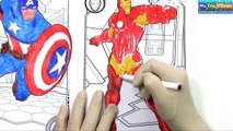 Avengers Come Alive in 3D Color Alive Coloring Book | Iron Man Nick Fury Captain America Hulk