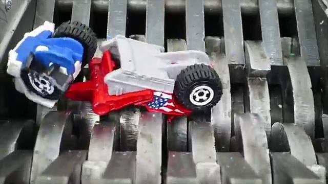Shredding Toy Trucks! Matchbox Trucks Destroyed
