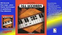 Partitions: les accords du piano, orgue, clavier électronique et Synthétiseur - pour débutants