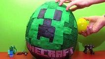 Minecraft gigante juguetes huevo sorpresa Keychaine Minecraft géant jouets surp