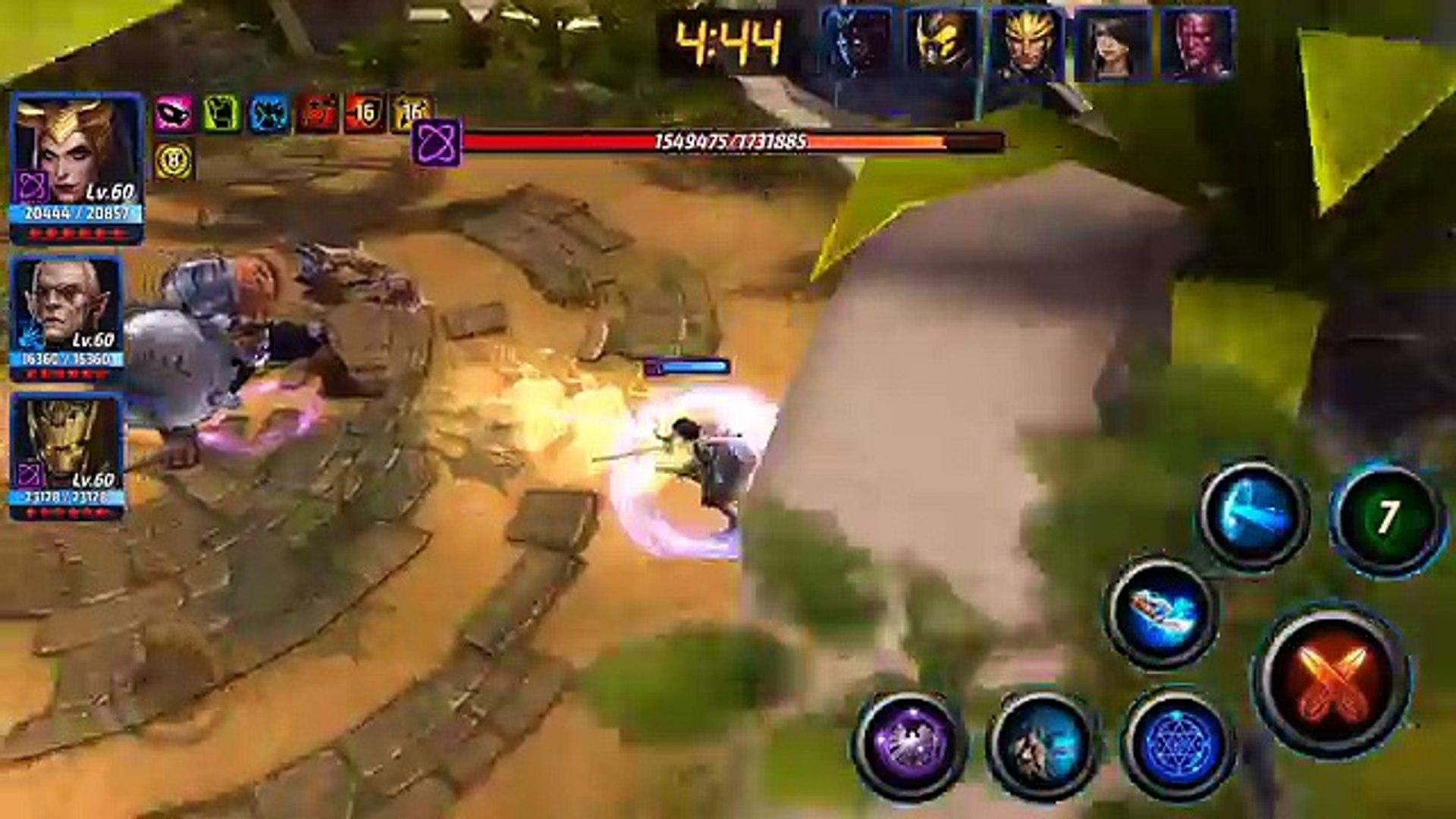 Marvel Future Fight - World Boss - Black Dwarf - Loki/Malekith/Groot