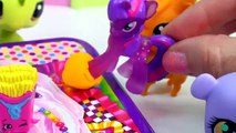 MLP Twilight Sparkles Playdoh Art Class - My Little Pony LPS Students Shopkins Season 3 Video Play