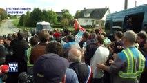 Des heurts entre salariés de GM&S et la police éclatent à Egletons, en Corrèze