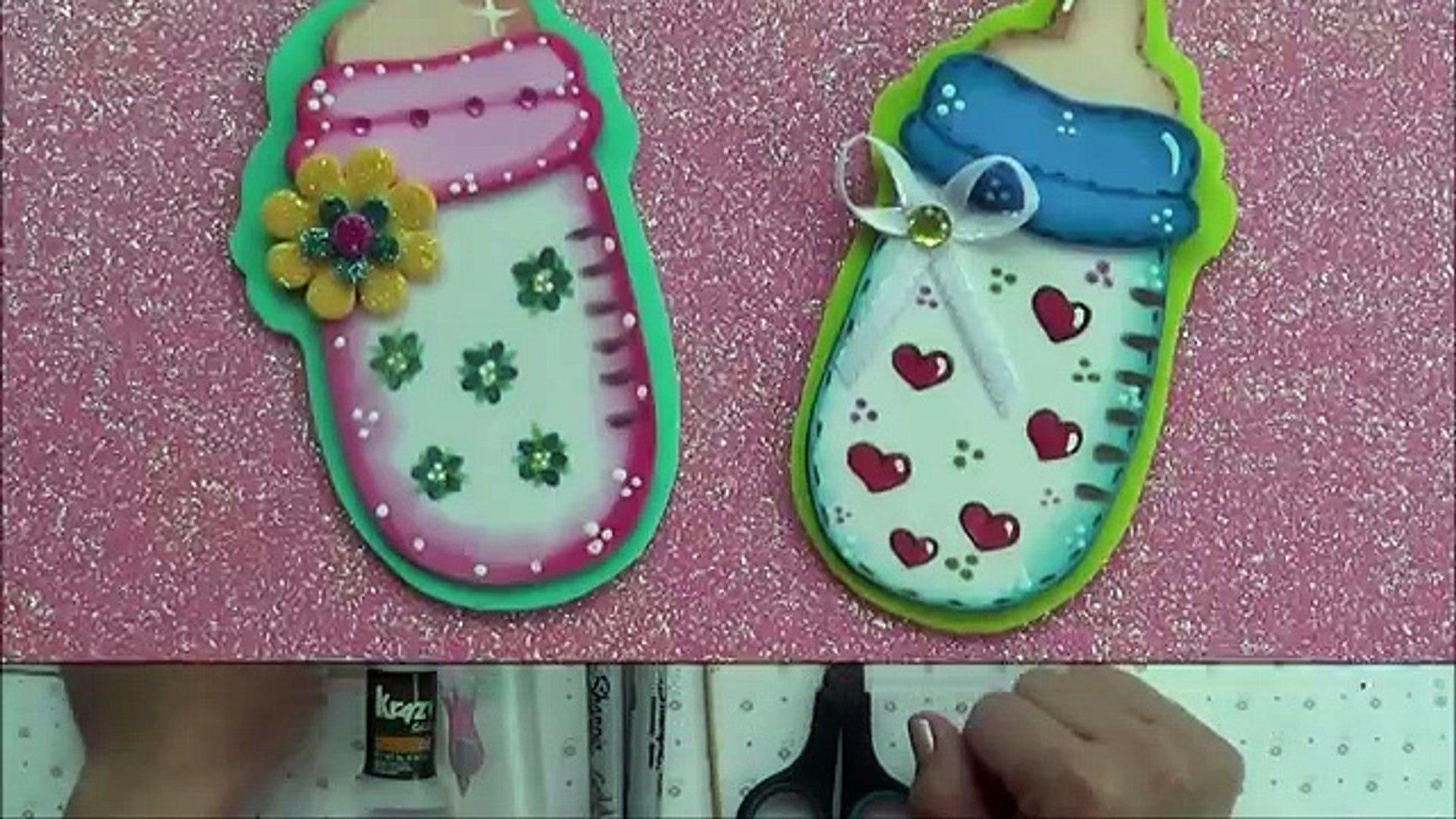 Biberon O Mamila Para Baby Shower De Foamy O Goma Eva видео Dailymotion