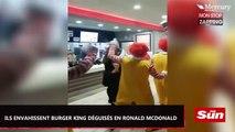 Déguisés en Ronald McDonalds, quinze hommes envahissent un Burger King (Vidéo)